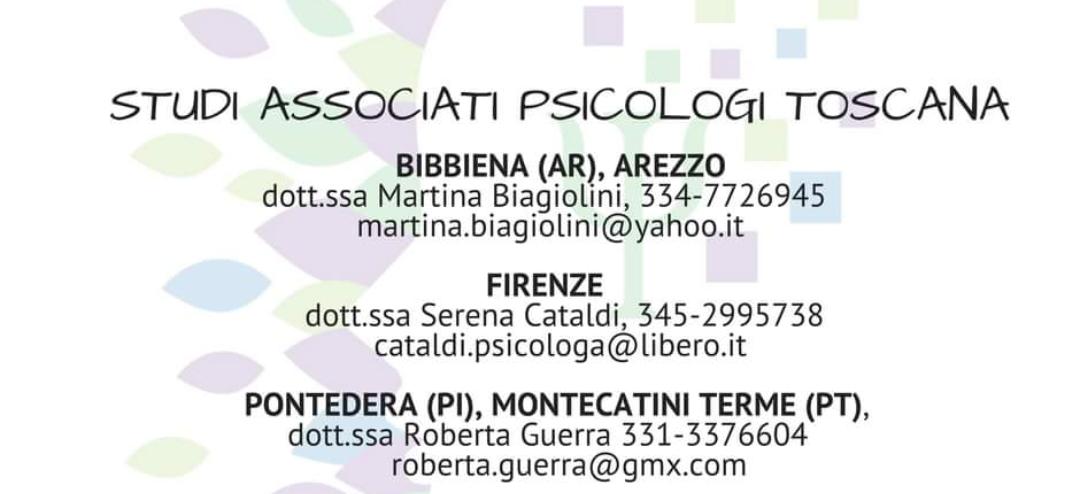 Psicologhe a Firenze, Arezzo, Bibbiena,  Montecatini Terme e Pontedera